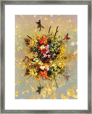 Framed Print featuring the photograph Bouquet  by Gouzel -