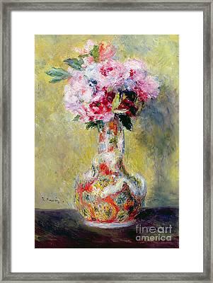 Bouquet In A Vase Framed Print