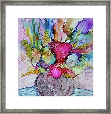 Framed Print featuring the painting Bouquet In Pastel by Joanne Smoley