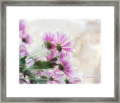 Framed Print featuring the photograph Bouquet In Pink by Joan Bertucci