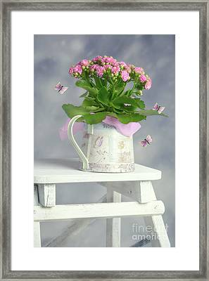 Bouquet In Watering Can Framed Print by Amanda Elwell