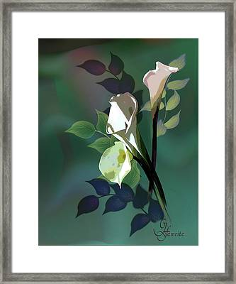 Bouquet In White Framed Print by Regina Femrite
