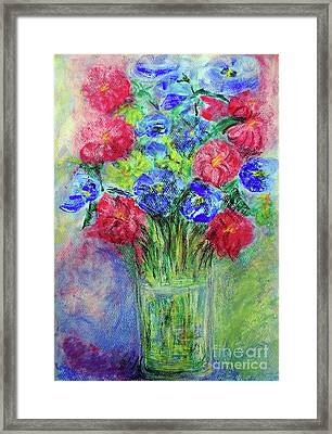Framed Print featuring the painting Bouquet by Jasna Dragun