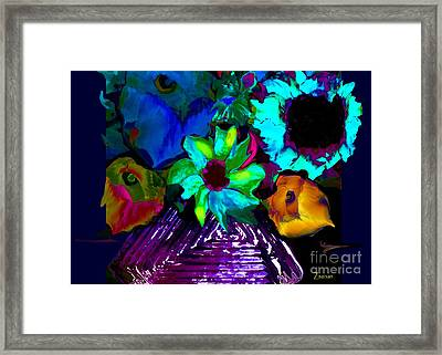 Bouquet In Fauve Framed Print