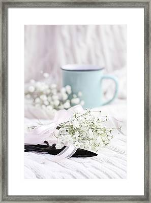 Framed Print featuring the photograph Bouquet Of Baby's Breath by Stephanie Frey