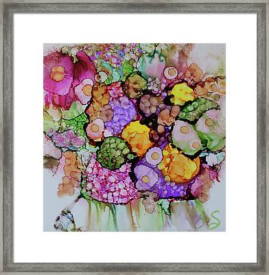 Framed Print featuring the painting Bouquet Of Blooms by Joanne Smoley