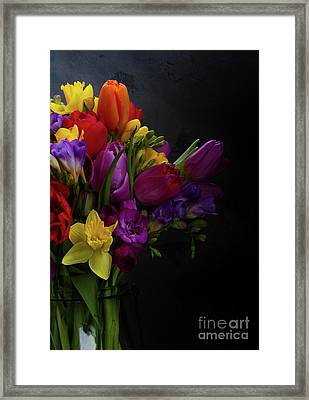 Flowers Dutch Style Framed Print