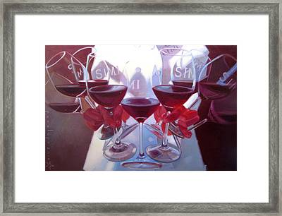Bouquet Of Cabernet Framed Print by Penelope Moore