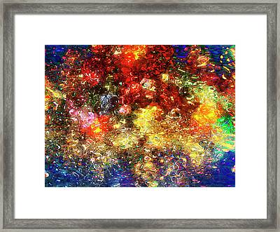 Bouquet Of Flowers Abstract Framed Print by Rayanda Arts