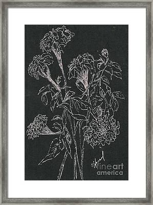 Framed Print featuring the painting Bouquet Of Flowers  by Vicki  Housel
