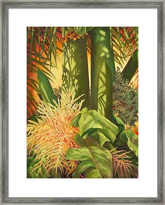 Bouquet Of Palm Framed Print by Monica Linville