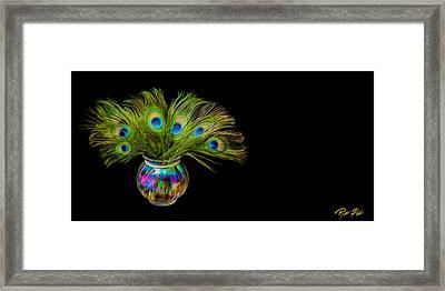 Bouquet Of Peacock Framed Print by Rikk Flohr