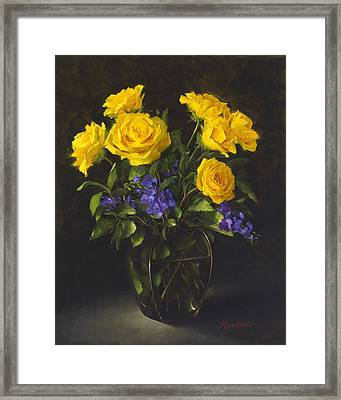 Bouquet Of Sunshine Framed Print