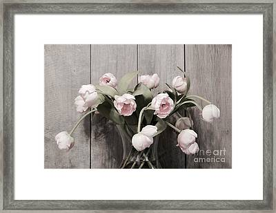 Bouquet Of Tulips Framed Print by Jeannie Rhode