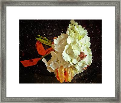 Bouquet Framed Print by Olivier Calas