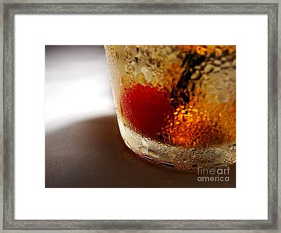 Bourbon Chill Framed Print