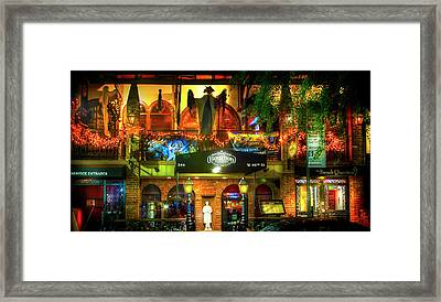 Bourbon Street Bar And Grille Framed Print by Mark Andrew Thomas
