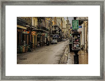 Bourbon Street By Day Framed Print