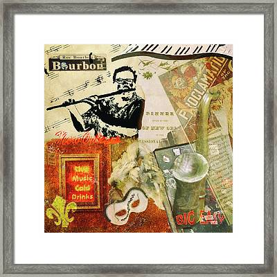 Bourbon Street Collage Framed Print