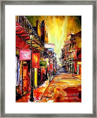Bourbon Street Dazzle Framed Print by Diane Millsap