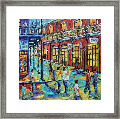 Bourbon Street New Orleans By Prankearts Framed Print by Richard T Pranke