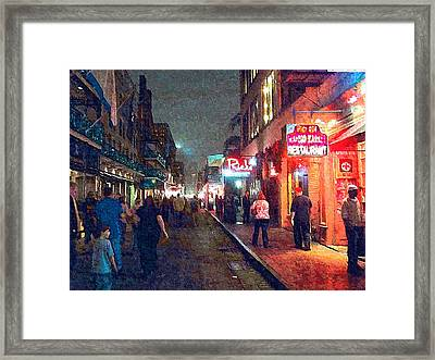 Bourbon Street - New Orleans Framed Print by Glenn McCarthy Art and Photography