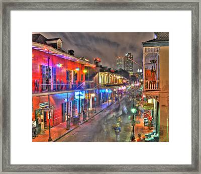 Bourbon Street Revelry Framed Print by Alex Owen