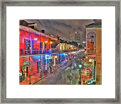 Bourbon Street Revelry Framed Print