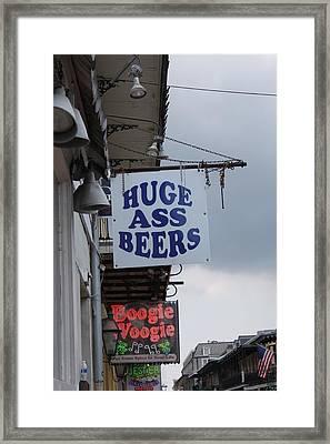 Bourbon Street Signs Framed Print