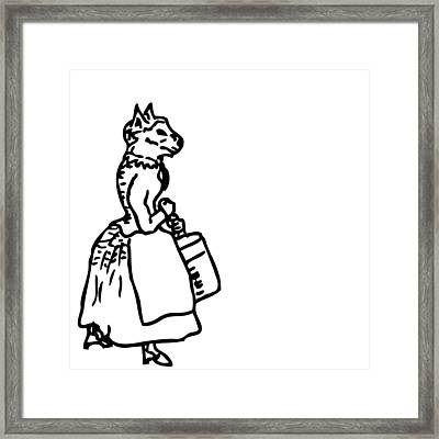 Bourgeois Cat Framed Print by Karl Addison