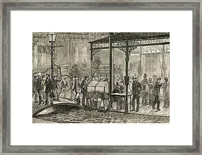 Bourke Street, Melbourne, Australia On Framed Print by Vintage Design Pics