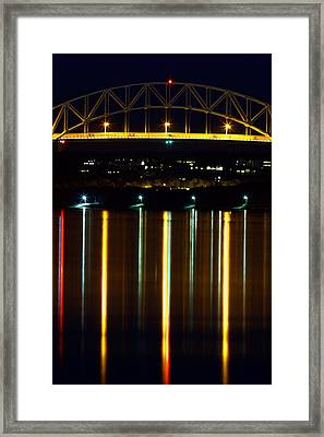 Bourne Bridge At Night Cape Cod Framed Print by Matt Suess