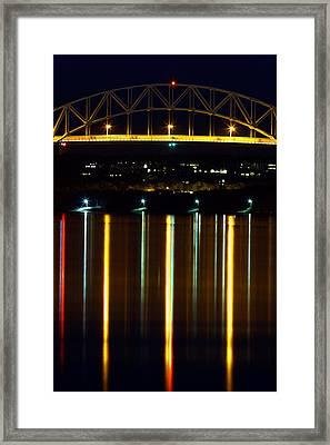 Bourne Bridge At Night Cape Cod Framed Print by Matt Suess