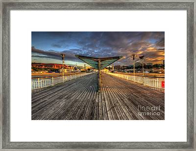 Framed Print featuring the photograph Bournemouth Pier Sunrise 2.0 by Yhun Suarez