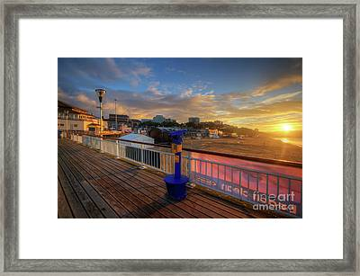 Framed Print featuring the photograph Bournemouth Pier Sunrise by Yhun Suarez