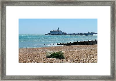 Bournemouth Seaside View Framed Print