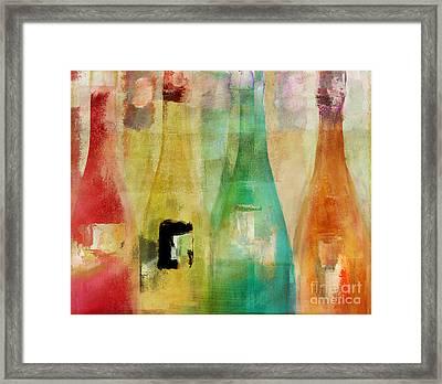 Bouteilles Framed Print