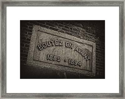 Boutez En Avant Framed Print