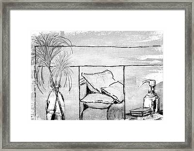 Spa Day Framed Print by Barbara Andolsek