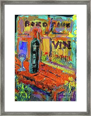 Boutique De Vins Francais 4 Framed Print