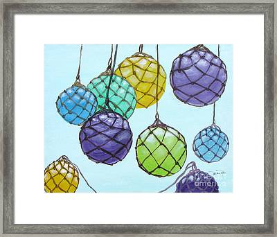 Bouy Balls Framed Print by Pauline Ross
