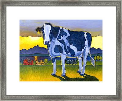 Bovine Whidbey Framed Print by Stacey Neumiller