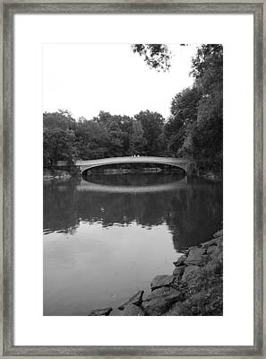 Bow Bridge And The Lake Framed Print by Christopher Kirby