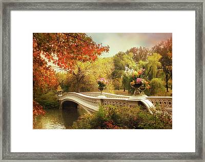 Bow Bridge Crossing Framed Print
