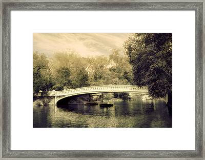 Bow Bridge Dreaming Framed Print