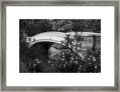 Bow Bridge In Central Park Framed Print by Christopher Kirby