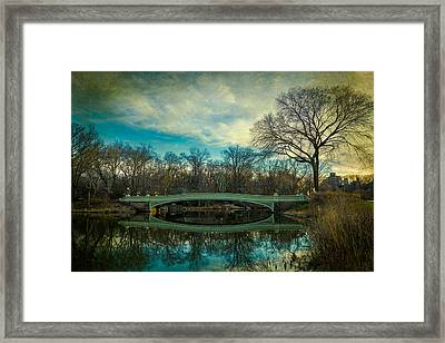 Framed Print featuring the photograph Bow Bridge Reflection by Chris Lord