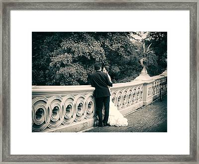 Bow Bridge Romance Framed Print by Jessica Jenney