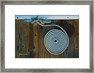 Bow Cleat Tie Up At Morro Bay California Framed Print by Floyd Snyder