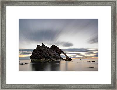 Bow Fiddle Rock At Sunrise Framed Print